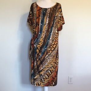 Dress Barn Animal/Mixed Print Dress. Sz 18 Woman
